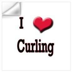 I Love (Heart) Curling Wall Decal