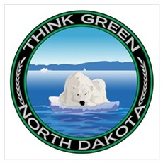 Environmental Polar Bear North Dakota Canvas Art