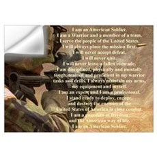 Warrior, Soldier's Creed Wall Decal