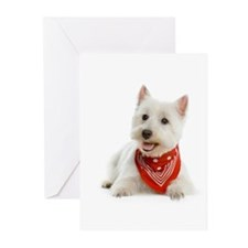 Westie With Red Bandana Greeting Cards (Pk of 10)