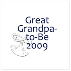 Great Grandpa-to-Be 2009 Canvas Art