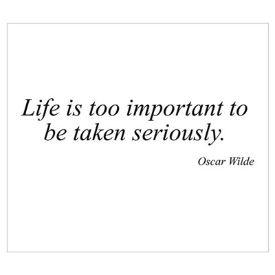 Oscar Wilde quote 46 Poster