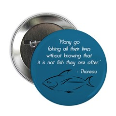 Thoreau on Fishing Philosophy button