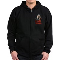 I Am Weasel Friends Zip Hoodie (dark)