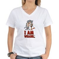 I Am Weasel Friends Women's V-Neck T-Shirt