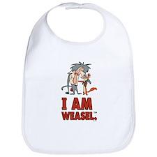 I Am Weasel Friends Bib