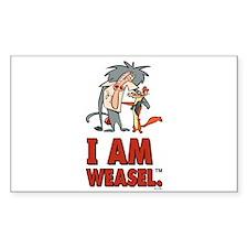 I Am Weasel Friends Decal