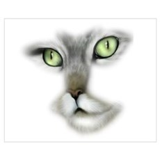 Cute Cat Face Canvas Art