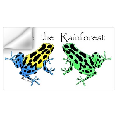 Save the Rainforest Wall Decal