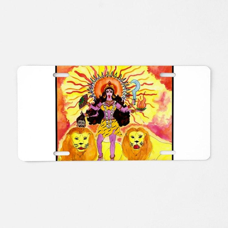 Cute Hindu god Aluminum License Plate