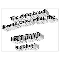 Left hand Poster