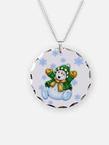 Happy Snowman Necklace