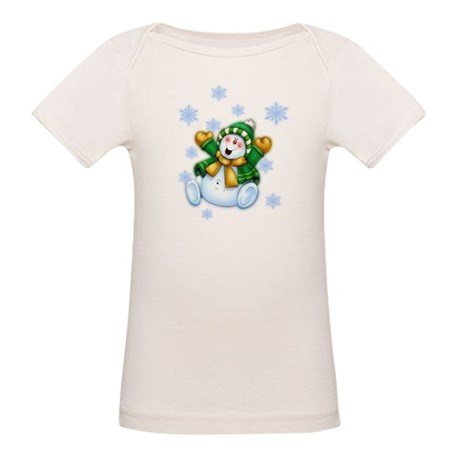 Happy Snowman Organic Baby T-Shirt
