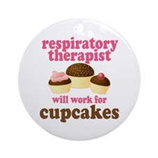 Funny Respiratory Therapist Ornament (Round)