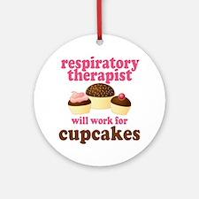 Funny Respiratory Therapist Ornament (Round)