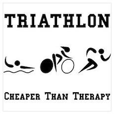 Triathlon Therapy Poster