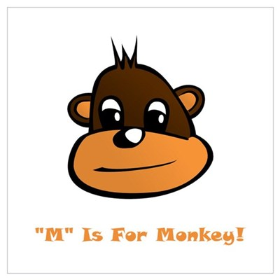M is for Monkey! Poster