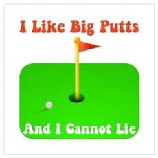 Big Putts Framed Print