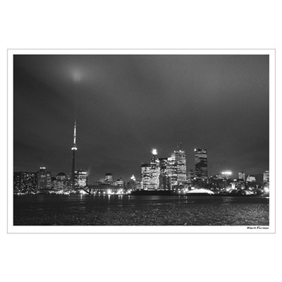Toronto Skyline at Night Canvas Art