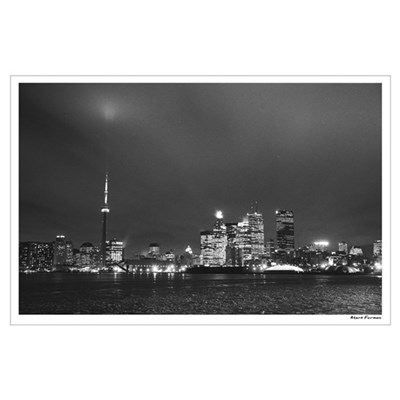 Toronto Skyline at Night Poster