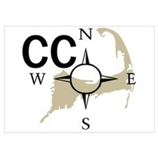 Cape Cod - Compass Poster
