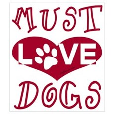 Must Love Dogs Canvas Art