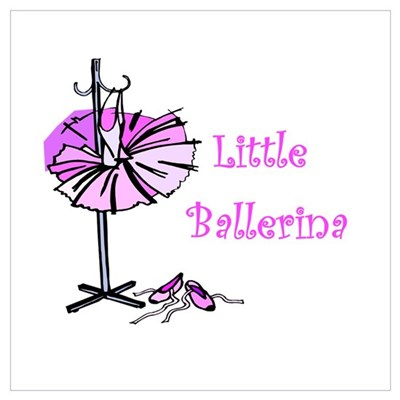 Little Ballerina Canvas Art