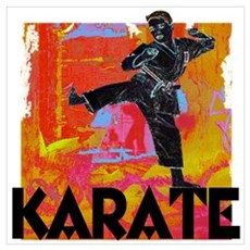 Karate Graffiti Canvas Art