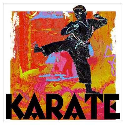 Karate Graffiti Poster