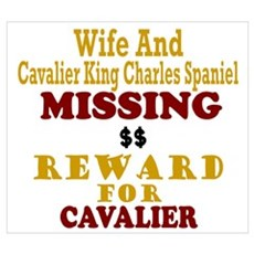 Wife & Cavalier King Charles Missing P Framed Print