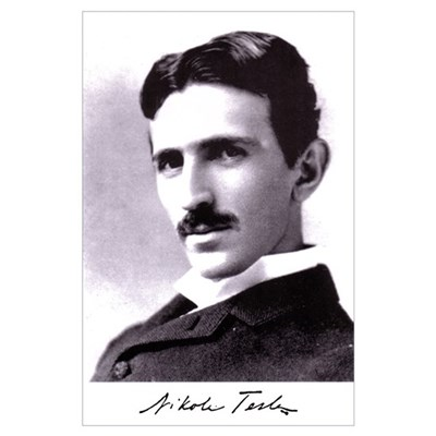 Tesla Portrait 11x17 Print Poster