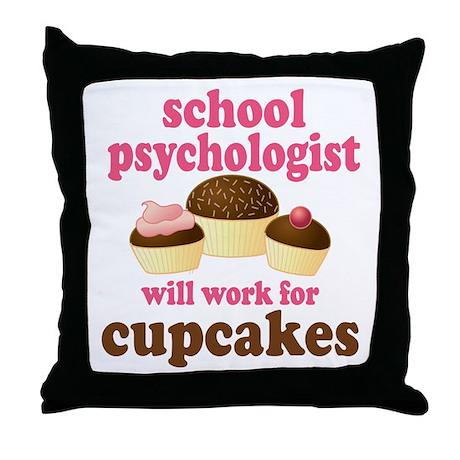 Funny School Psychologist Throw Pillow