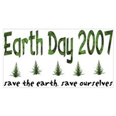 Earth Day 2007 to Save The Planet Small Framed Pri Poster