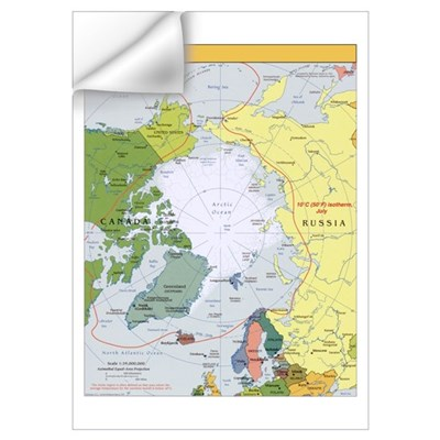 Arctic Polar Map Wall Decal