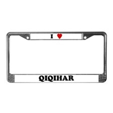 I Love Qiqihar License Plate Frame