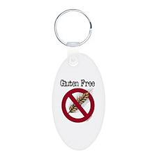 Gluten free Aluminum Oval Keychain