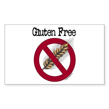 Gluten free Sticker (Rectangle)
