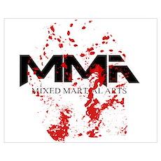 MMA Blood Splatter 05 Poster