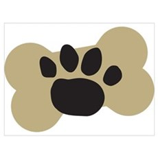 Dog Lover Paw Print Canvas Art