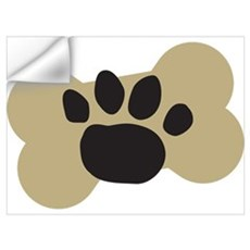Dog Lover Paw Print Wall Decal