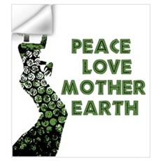 Peace Love Mother Earth Wall Decal