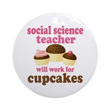 Funny Social Science Teacher Ornament (Round)