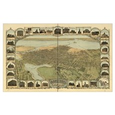Oakland, California, 1900 Framed Print