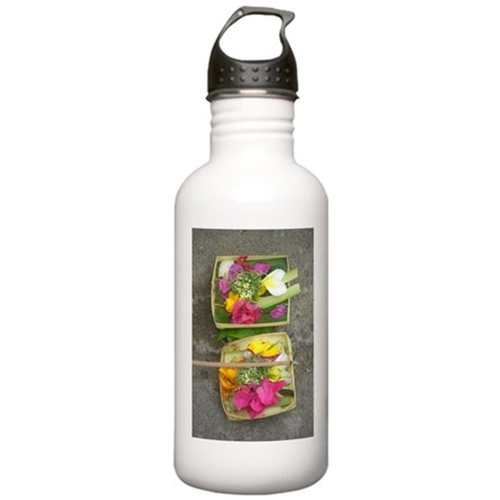 Balinese Offering Baskets Stainless Water Bottle 1