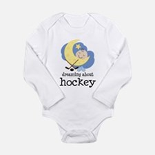 Dreaming About Hockey Long Sleeve Infant Bodysuit