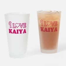 I Love Kaiya Drinking Glass