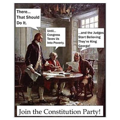 Join Constitution Party Framed Print
