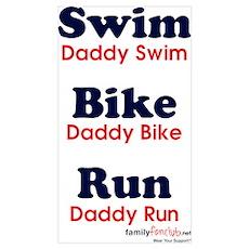 Triathlon Daddy Poster
