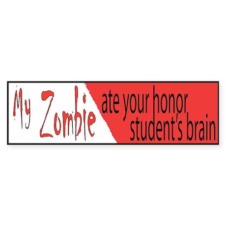 zombie honor student bumper sticker