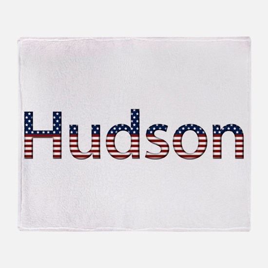 Hudson Stars and Stripes Throw Blanket
